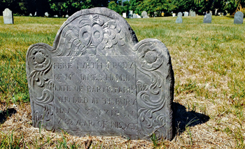 James Hamlin's grave marker