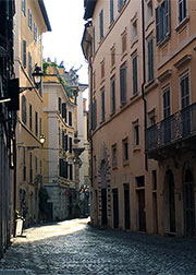 A winding backstreet in Rome