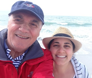 Diana Aydin and her dad.