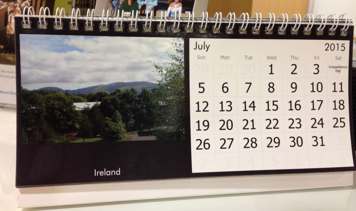 Why is God calling me to Ireland? The calendar.