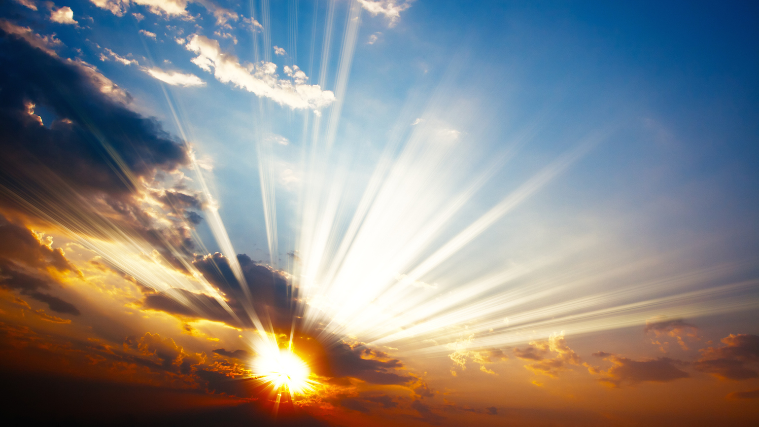 Image result for bright sun rays breaking through clouds
