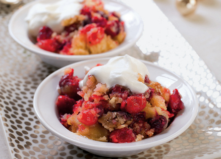 Five-Minute Cranberry Walnut Cobbler