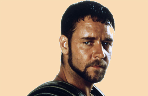 Russell Crowe in a publicity shot from Gladiator