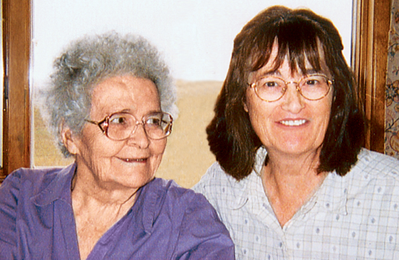 Wanda Rosseland with her mother
