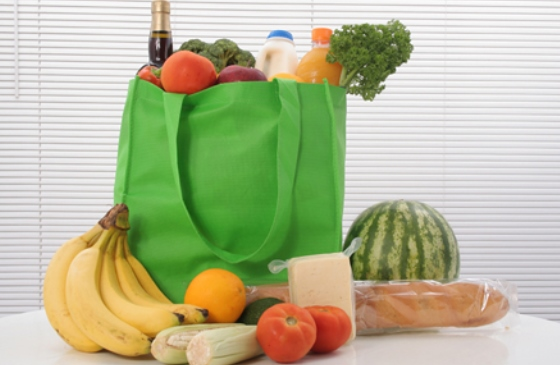 Photo of a bag of groceries