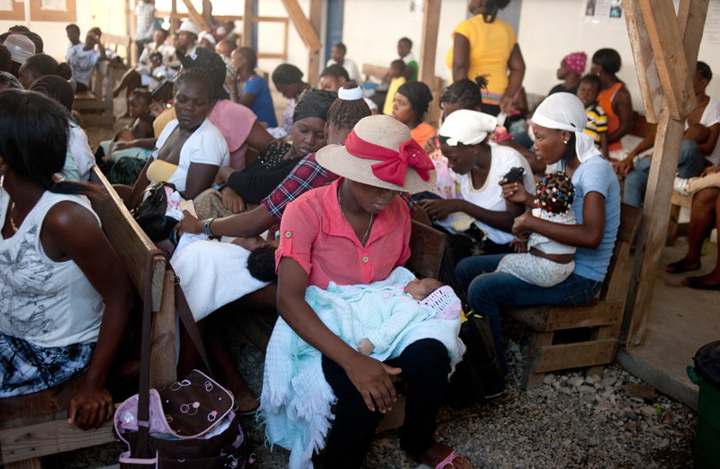 Up to 200 Haitians arrive at the Doctors Without Borders hospital each day.