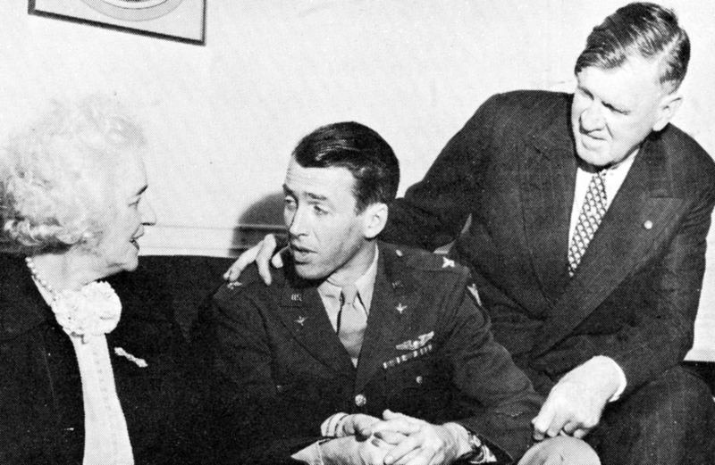 James Stewart is reunited with his parents shortly after World War II.