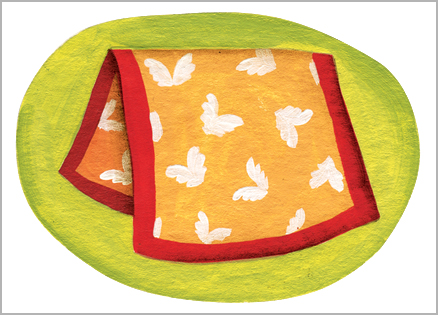 An artist's rendering of a child's blanket