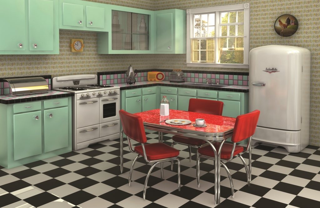 Retro kitchen from the 1960s