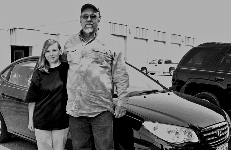 Gary Snelson and the young woman he rescued
