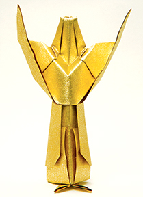 One of Delace's origami angels
