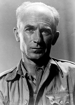 Pulitzer Prize-winning journalist Ernie Pyle in 1945; photograph by Milton J. Pike