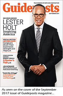 NBC News anchor Lester Holt on the cover of the Sept 2017 issue of Guideposts; photo by Melanie Dunea