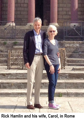 Rick Hamlin and his wife, Carol, in Rome