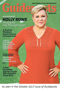 Holly Rowe as seen on the cover of the Oct 2017 issue of Guideposts