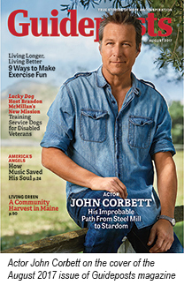 Actor John Corbett on the cover of the August 2017 issue of Guideposts magazine