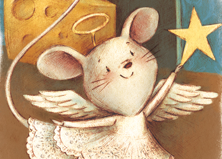 An angelic mouse in the house!