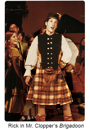 Rick in Mr. Clopper's Brigadoon
