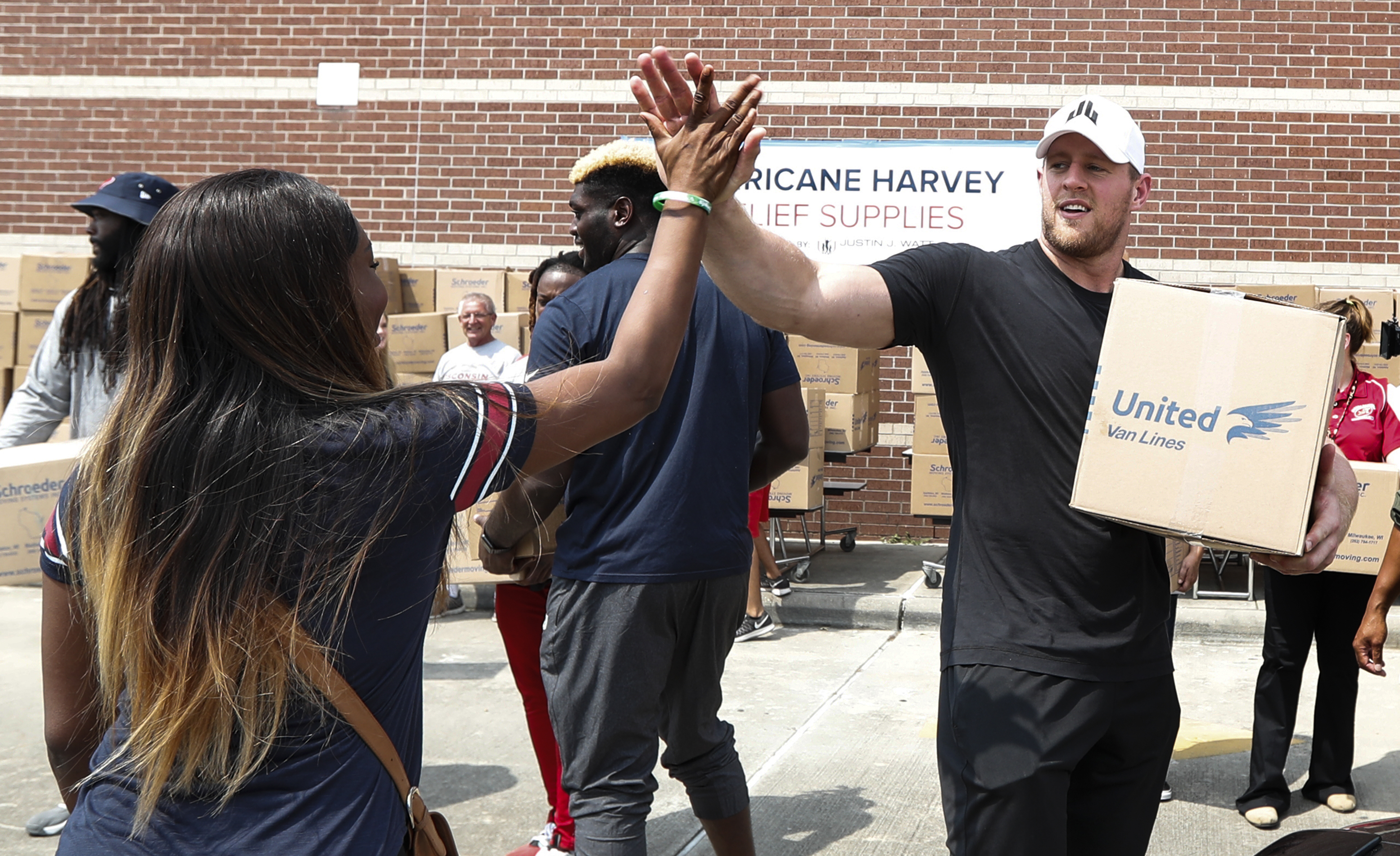 JJ Watt helping Hurricane victims
