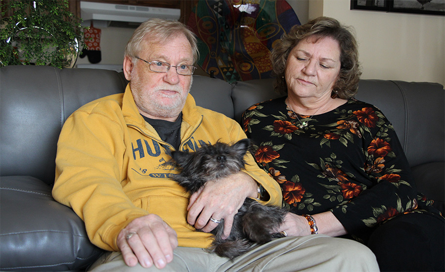 Keith and NancyJo with their dog