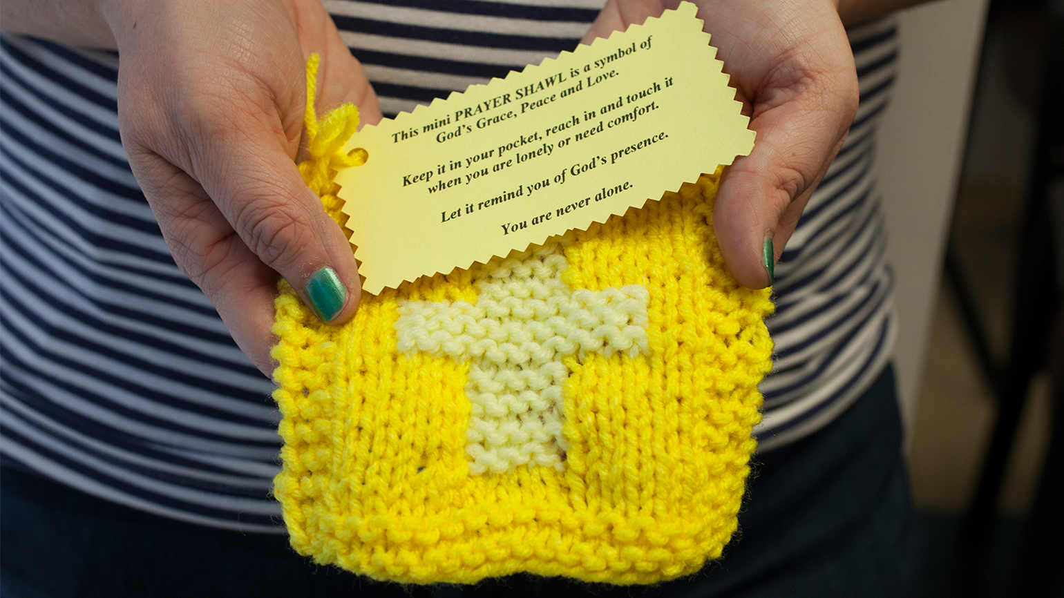 Doris Kuegler's mini-prayer shawl