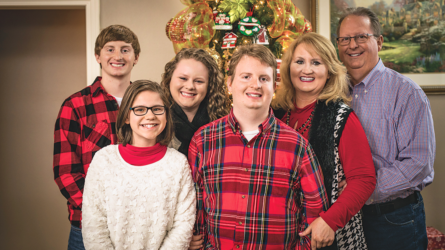 The Roark family: (from L to R) Casey, Diana, Carly, Caleb, Diana and Jerry