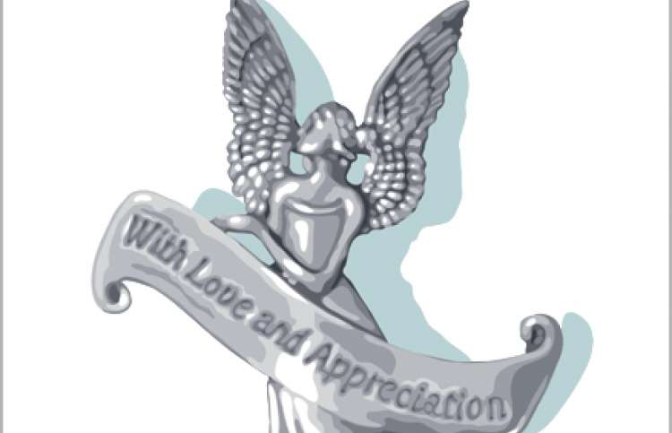 An artist's rendering of Florence's pewter angel
