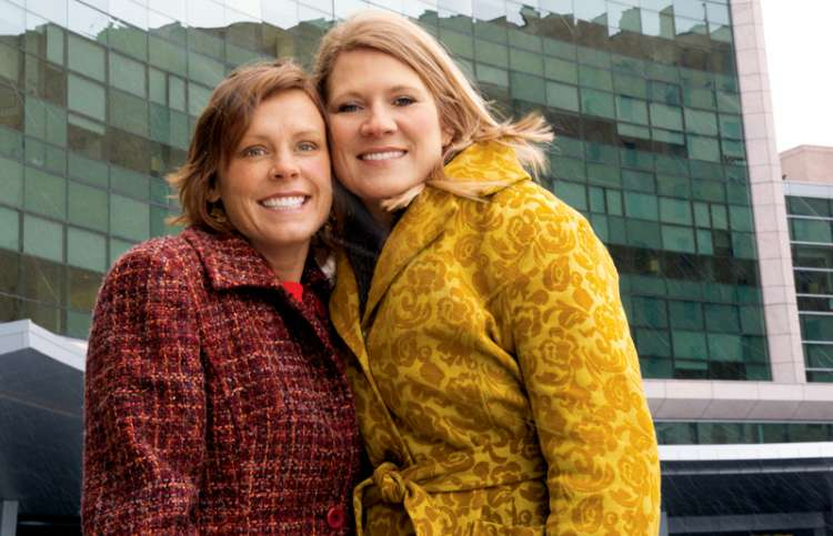 Jenni (left) and Haylee, outside the Cleveland Clinic