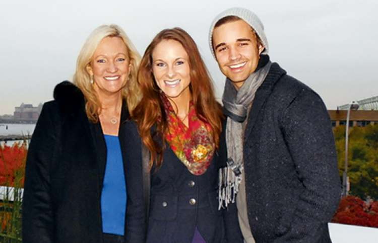 Karen Kingsbury, daughter, Kelsey, and son-in-law, Kyle, Guideposts