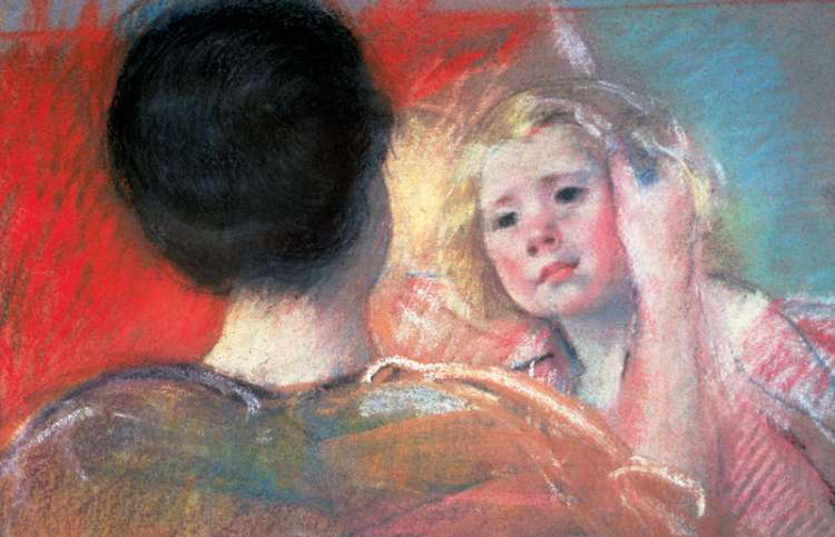 "Mary Cassatt, ""Mother Combing Sara's Hair,"" 1901"