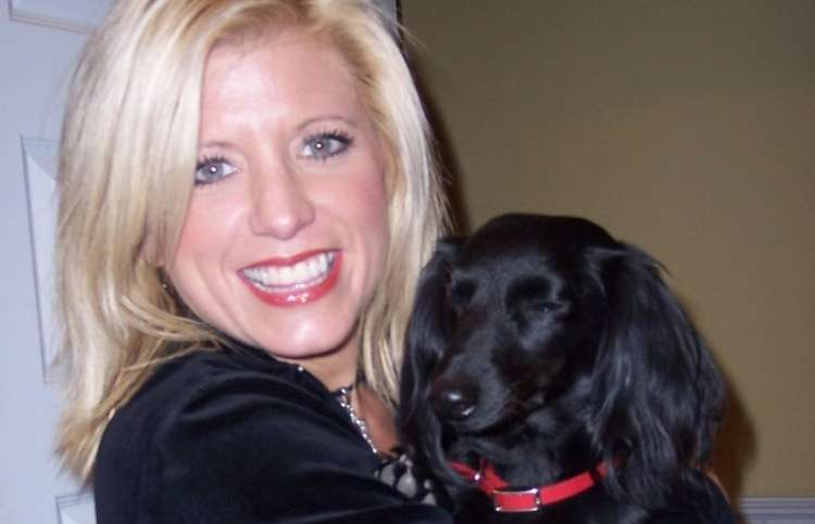 Inspirational Stories blogger Michelle Medlock Adams and her dog Mollie Mae