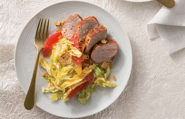 Pork Tenderloin with Citrus Slaw