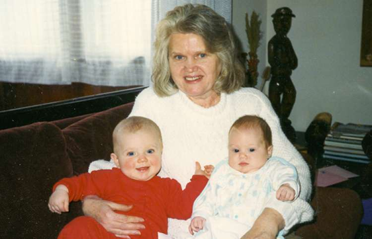 Audrey's mother and her grandchildren