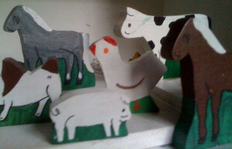 Prayer blogger Rick Hamlin's old barn animals for kids and grandkids