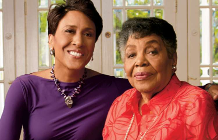 Robin Roberts and her mother, Lucimarian