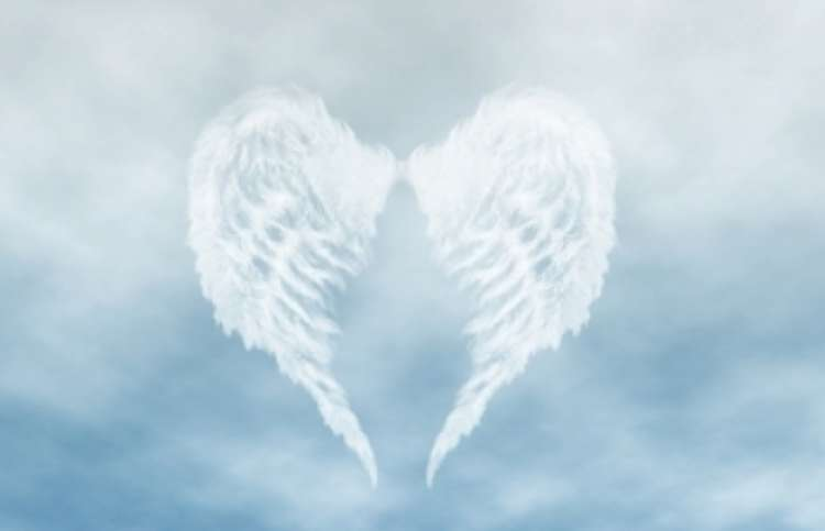 angel wing-shaped clouds