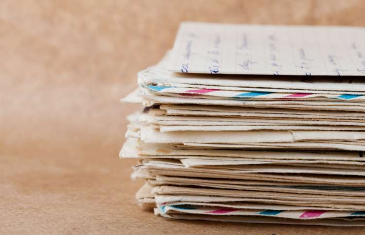 Stack of old letters