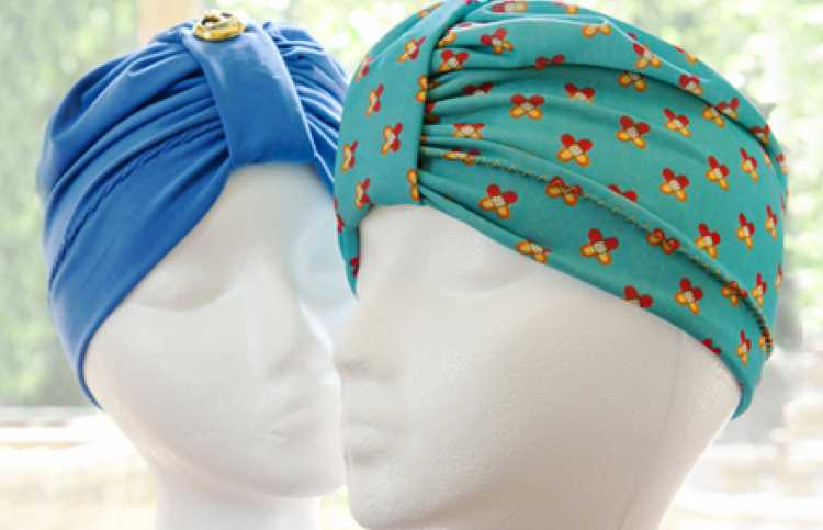 Two of Marjorie Kinney's turbans