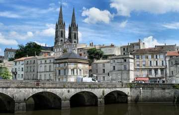 A bridge in Niort, France.