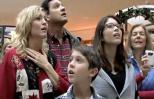Christmas Shoppers Stop to Listen to Flash Mob Carols at the Mall