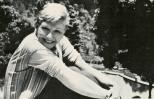 Actress Mary Martin relaxes on the farm she and her husband use for retreats.