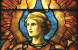 """Pictures of Angels with Wings: Louis Comfort Tiffany, """"In Company with Angels"""""""