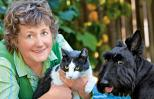 Marci Kladnik, with Barney and Maggie