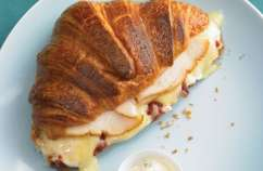 Creamy, cheesy, smokey croissants