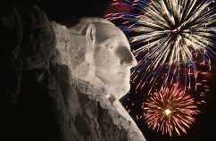 George Washington gives props to God for Fourth of July.