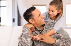 Hugs for a military family.