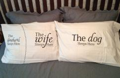 Peggy's pillow cases tell the story.