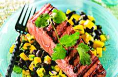 Salmon with Black Bean Salsa