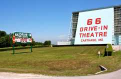 The 66 Drive-in, just outside Carthage, Missouri, along the Mother Road