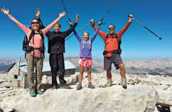 Guideposts: The O'Neills reached new heights at the 14,500-foot summit of Mount Whitney.